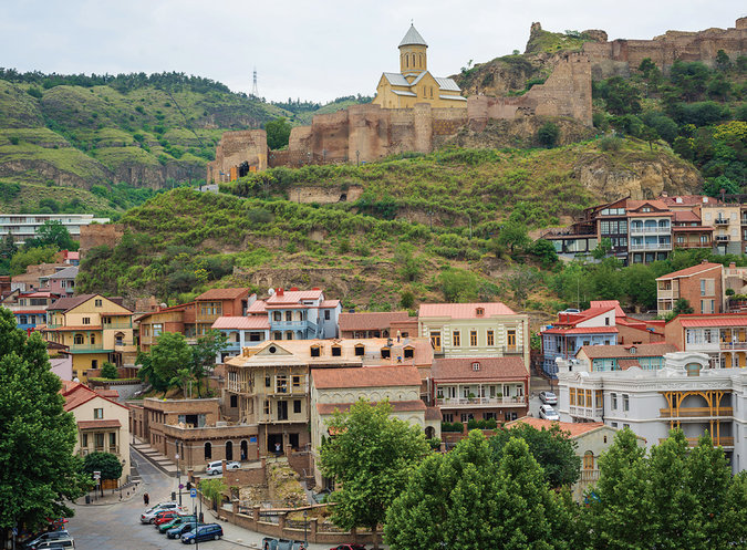 St. Nicholas Church sits above Old Tbilisi, within the ruins of the fourth-century Narikala fortress. Credit Nata Abashidze-Romanovskaya