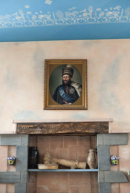 A portrait of King Erekle II at Kakhelebi restaurant. Credit Nata Abashidze-Romanovskaya